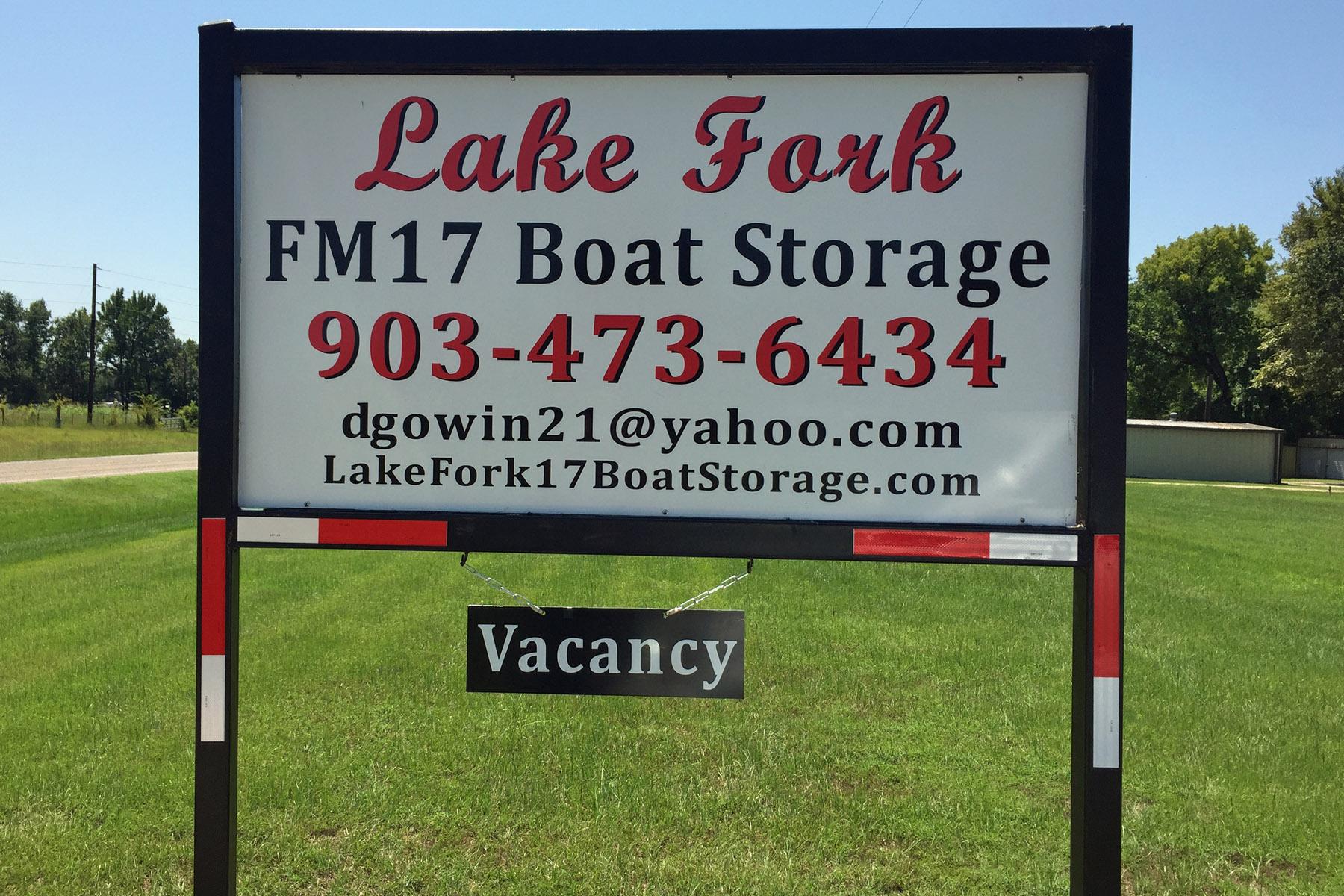 Boat Storage Signage : Lake fork boat storage dandk organizer